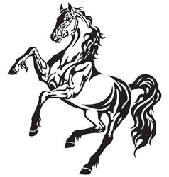 Horse tribal tattoo vector