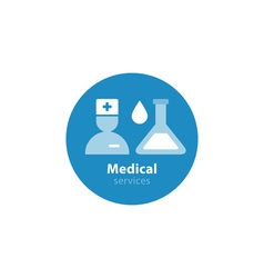 Medical analysis annual check up health insurance vector image