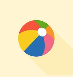 Multicolored beach ball icon vector
