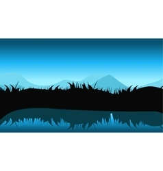 Nature landscape with reflection in water vector