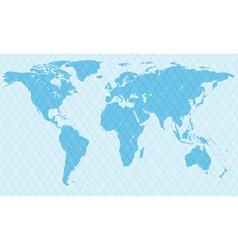 Netlike map vector image vector image