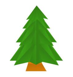 Origami spruce icon cartoon style vector