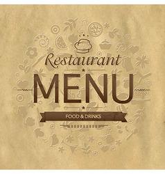 Retro restaurant menu design vector