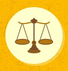 Round icon woody scale symbol of legal vector