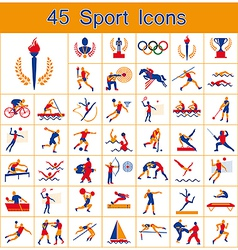 Set of 45 sport icons vector image vector image
