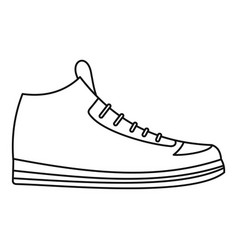 sneakers icon thin line vector image