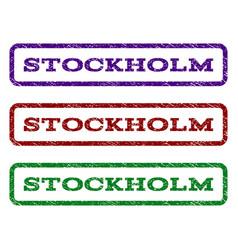 Stockholm watermark stamp vector