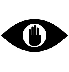 Stop spying icon vector