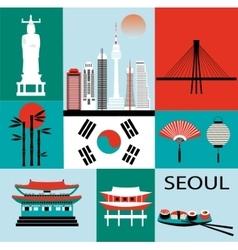 Symbols of seoul vector