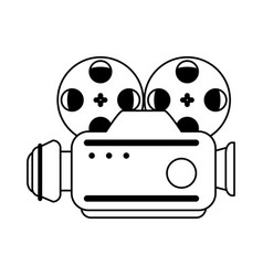 Vintage film projector icon image vector