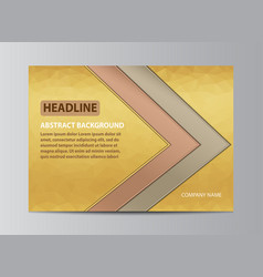 yellow cover design vector image vector image