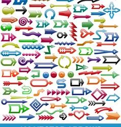 100 arrows vector image vector image