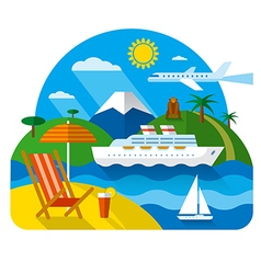 Sea and ocean resort vector