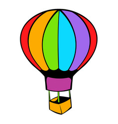 Hot air balloon icon icon cartoon vector
