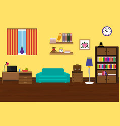 Interior modern and stylish room with a sofa vector