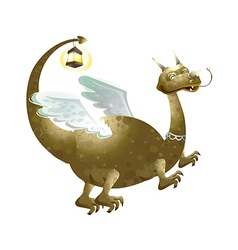 Icon dragon vector