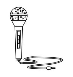 Modern microphone technology vector