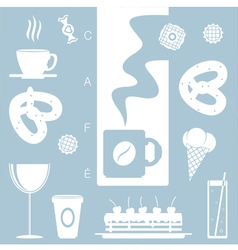 Cafe decoration vector