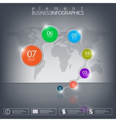 3d element infographics on black background vector