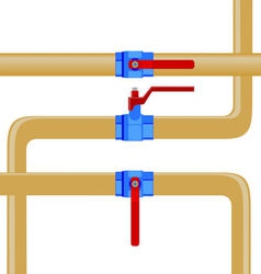 Gas pipes vector image