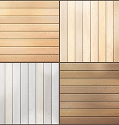 Set of wood plank backgrounds vector