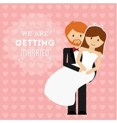 Relationship wedding and love design vector