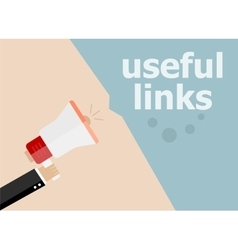 Useful links hand holding a megaphone vector