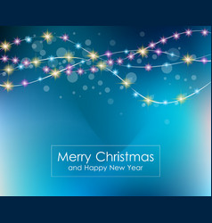 Christmas lights background for your seasonal vector