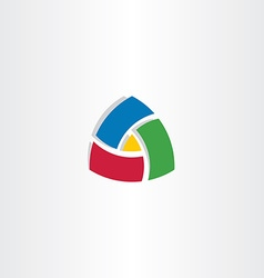 Colorful triangle abstract business logo vector