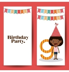 Birthday party design vector