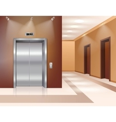 Hall with elevator vector