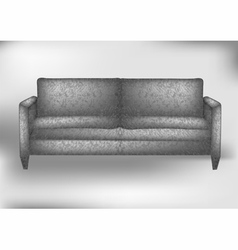 Gray sofa vector