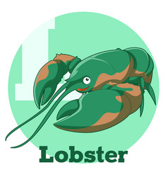 Abc cartoon lobster vector