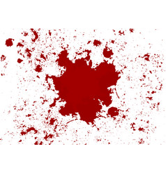 Abstract blood splatter red color isolated vector