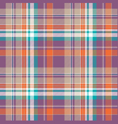 Abstract check plaid cotton texture seamless vector