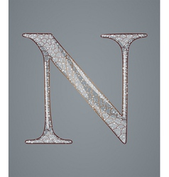 Abstract letter N vector image