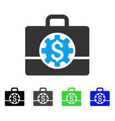 Bank career options flat icon vector