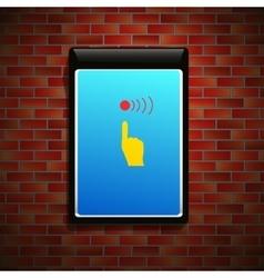 Billboard on wall vector image