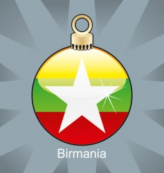 birmania flag on bulb vector image vector image