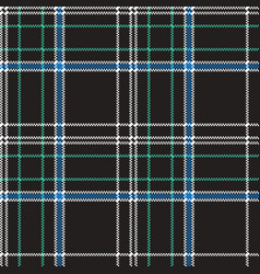 Black check plaid pixel seamless pattern vector