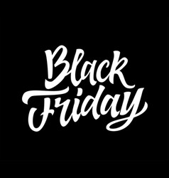 black friday - hand drawn brush lettering vector image vector image