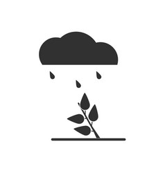Black icon on white background rain and bush vector