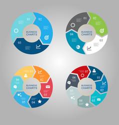 Business circle infographics set vector