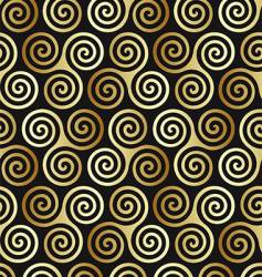 Celtic spiral pattern vector image