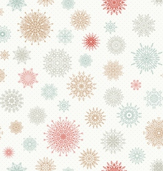 Christmas seamless pattern from red and blue vector image vector image