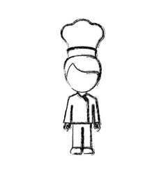 Contour man chef icon vector