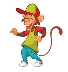 cool monkey rapper character vector image
