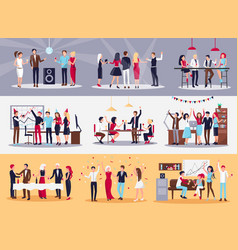 corporate parties set vector image vector image