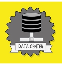 Data center base icon vector