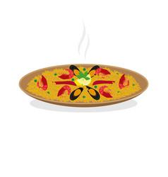 dish paella vector image